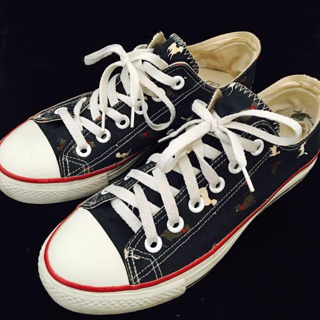 小貓圖紋帆布鞋🐱
