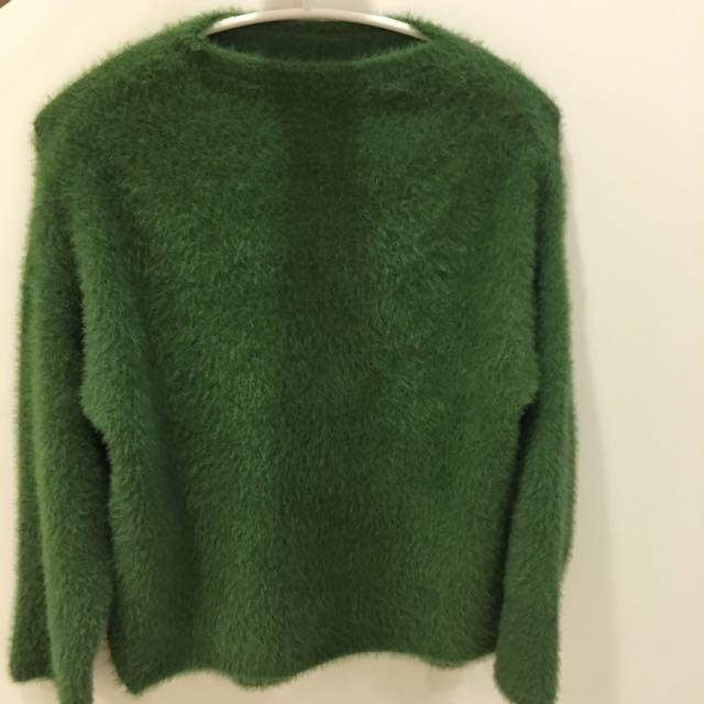 綠色尼龍纖維上衣