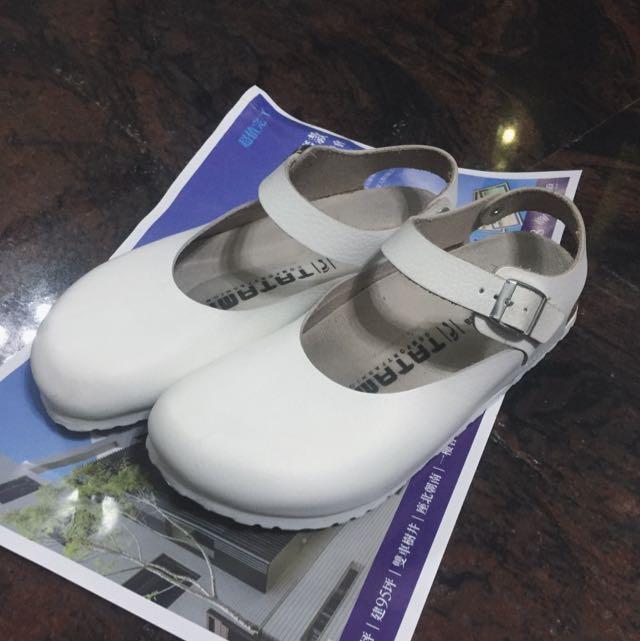 勃肯包鞋 白