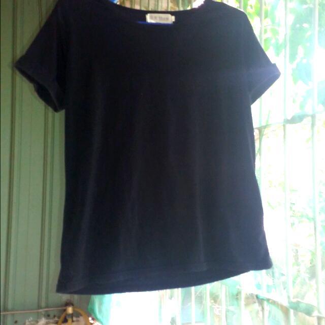 素色 黑色 T恤 韓版