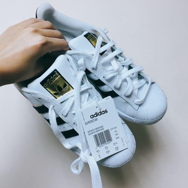 Adidas 金標 100%正品 23cm