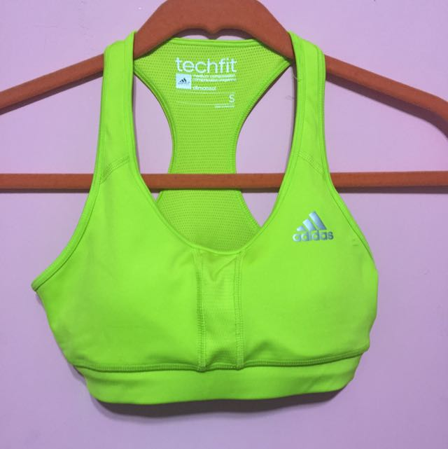 Adidas 螢光運動內衣