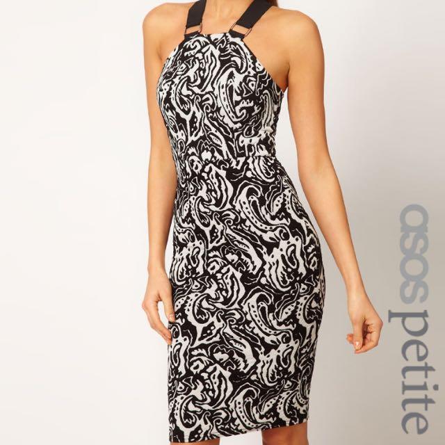 ASOS bodycon Dress In Monoprint