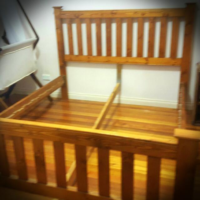 Bed Frame plus Queen mattress