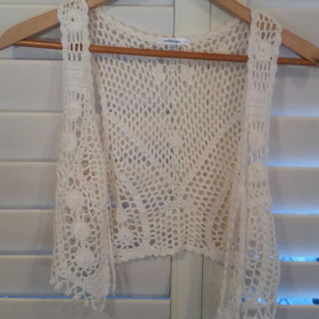 Cream Crochet Jacket