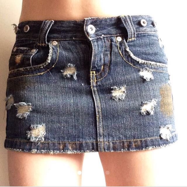Denim Skirt/ Shorts