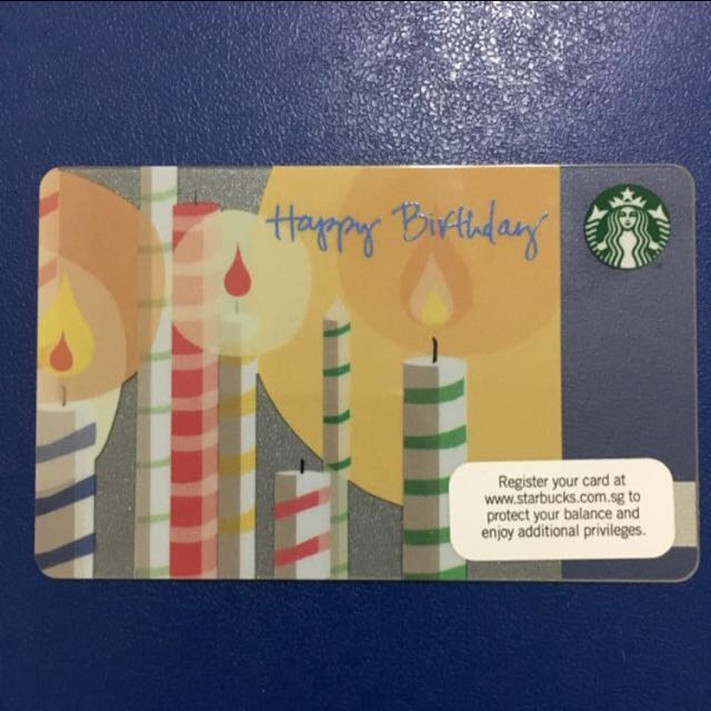 Happy Birthday Starbucks Card Entertainment On Carousell