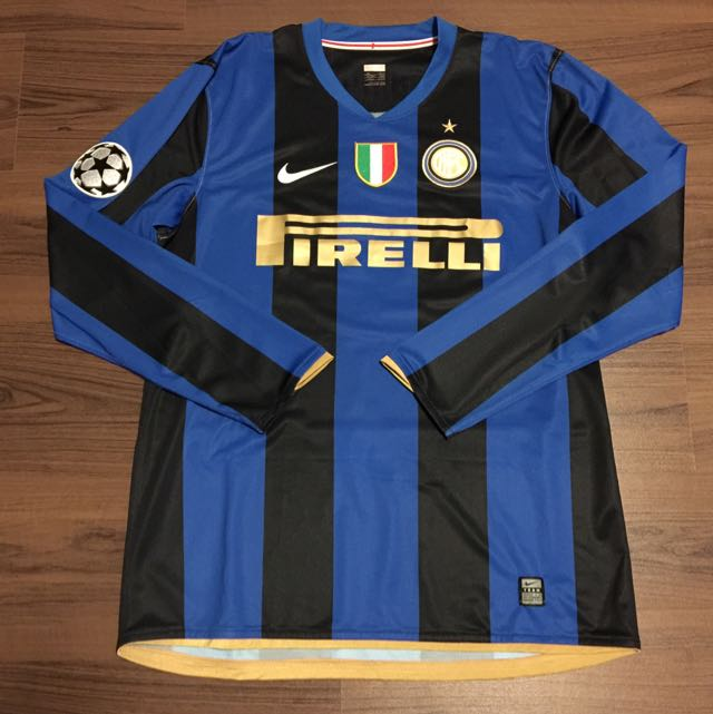 huge discount 5c70c 3afee Inter Milan Nike Player Issue 2008/2009 Home Jersey ...