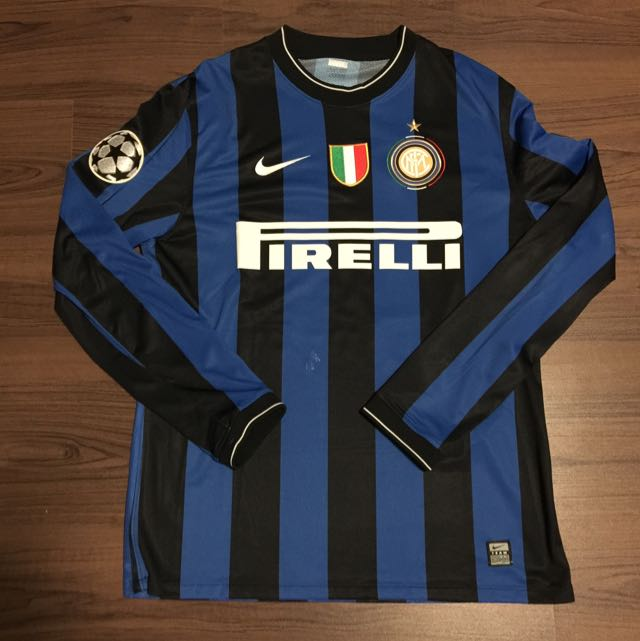 Inter Milan Nike Player Issue 2009 2010 Home Jersey Milito 22 Champions League Sports On Carousell