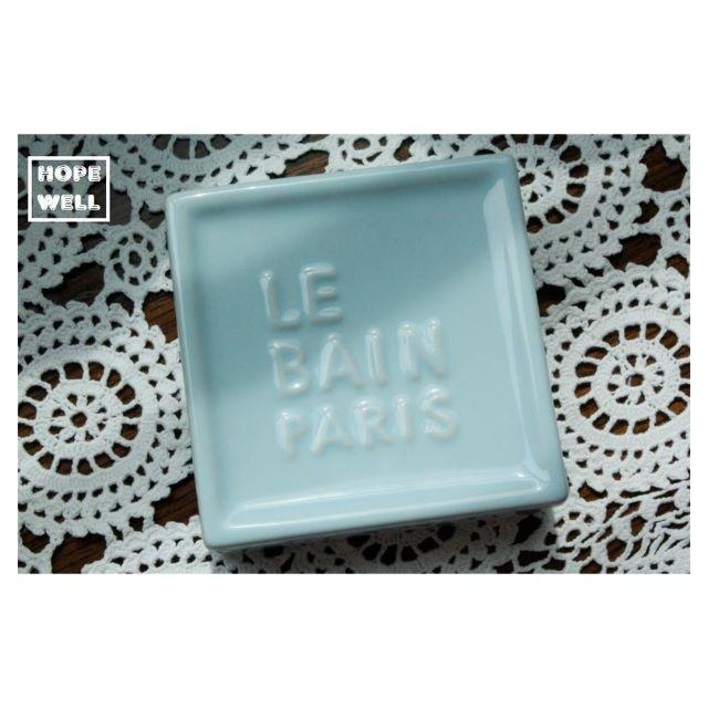 LE BAIN PARIS 歐式巴黎 陶瓷肥皂盒 。紐西蘭帶回
