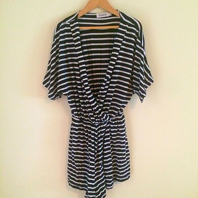 LIONESS XS STRIPED PLAYSUIT