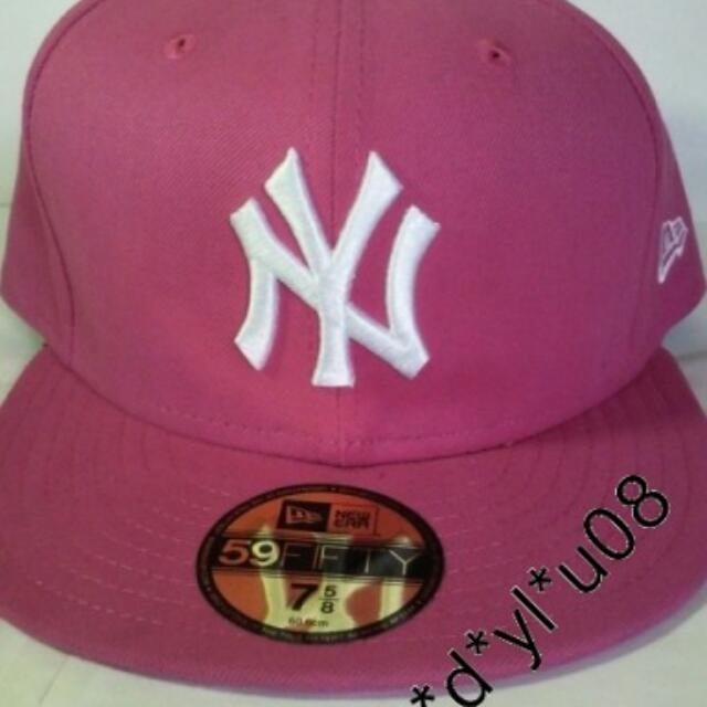 159cdf9a54ec7 New Era Cap - New York Yankees League Basic MLB 59FIFTY Fitted (Pink ...