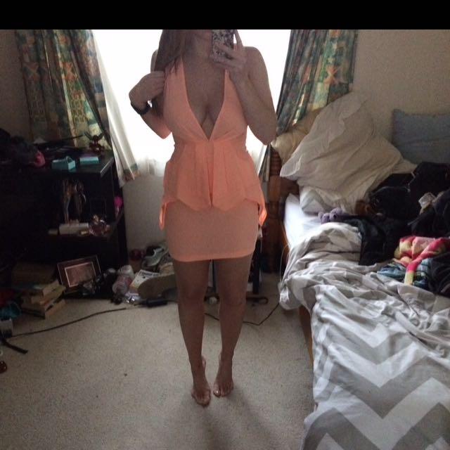 Peach Pepper mayo Dress