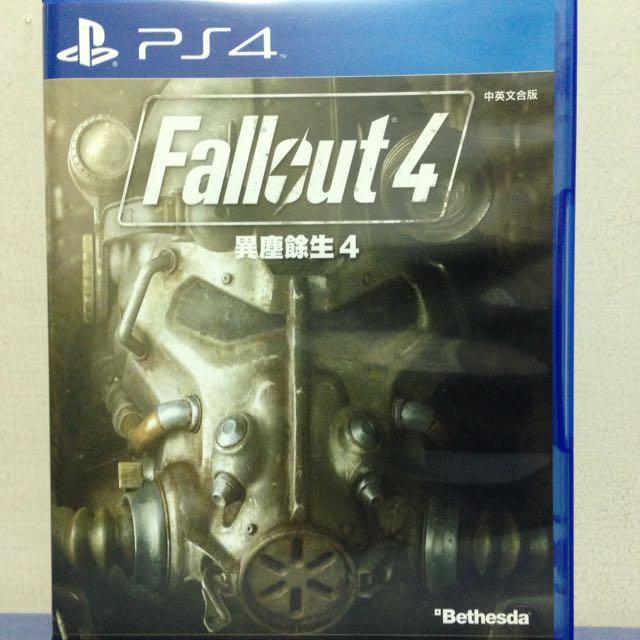PS4二手 Fallout4 異塵餘生4 中英文合版 附贈能力海報