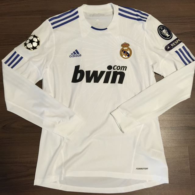 info for 26f56 3762a Real Madrid 2010/2011 Adidas Player Issue Formotion Home ...