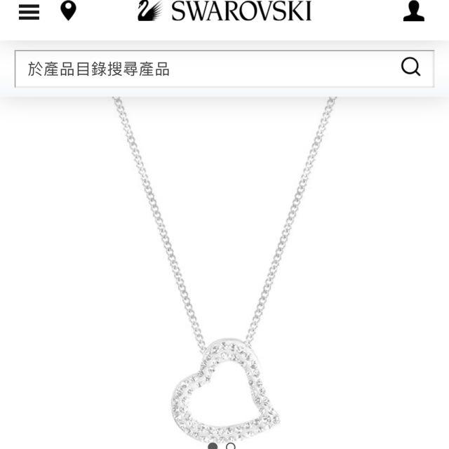 SWAROVSKI心型項鍊