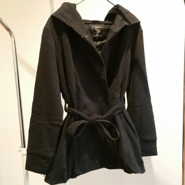 Thick Black Coat | Size M