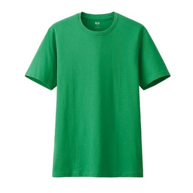 Uniqlo短袖素T 綠色