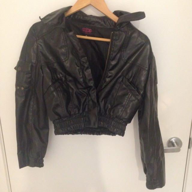 Wet-leather Look Jacket