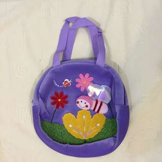 春天系列-立體蝴蝶絨布防水手提包
