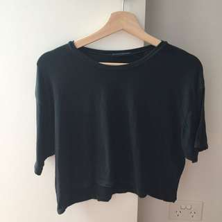 Brandy Melville Navy Crop Top Size: One Size