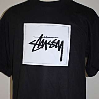 New Stussy Printed Black T-shirt