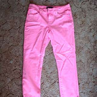 Bright Pink Jeans