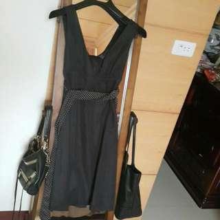 二手 質感日本花苞裙洋裝