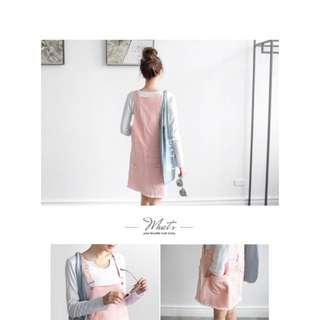 粉色吊帶裙OB嚴選