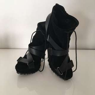 BNWT Black Peep Toes High Heels