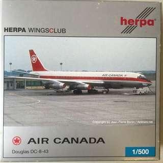 Air Canada Douglas DC-8-43 Herpa Wings Club Model 1/500