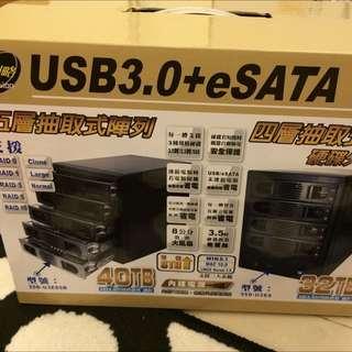 伽利略 35D-U3ES 四層硬碟外接盒