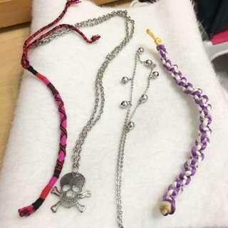 🆓free item 手鏈 bracelet 頸鏈 necklace