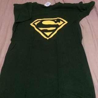 美式綠色短T Superman  Nike Madness Remix