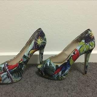 Tropical Parrot High Heels- ZU Size 7