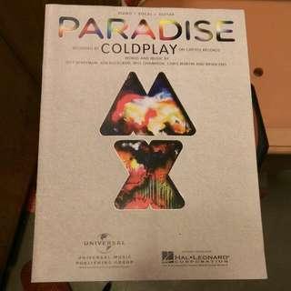 鋼琴+人聲+吉他譜 Coldplay Paradise 酷玩樂團