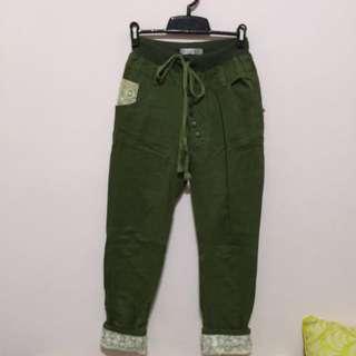 軍綠休閒長褲