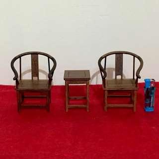 藝品雞翅木金交椅擺件