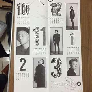 Bigbang 2015welcoming Collection年曆海報