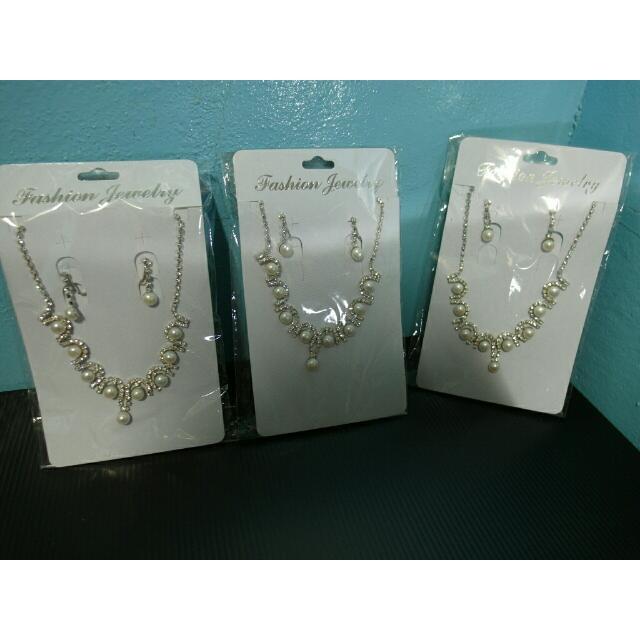 🌸珍珠項鍊+耳環🌸免運