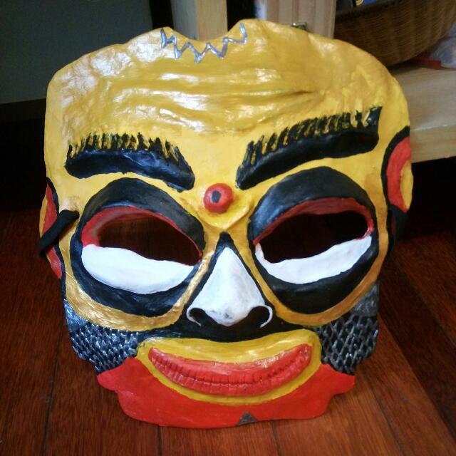 自製原始面具