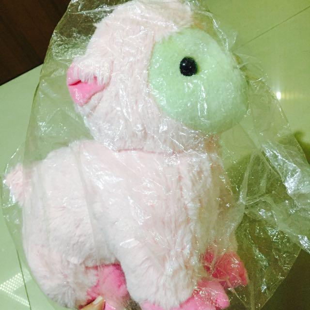粉色草泥馬娃娃