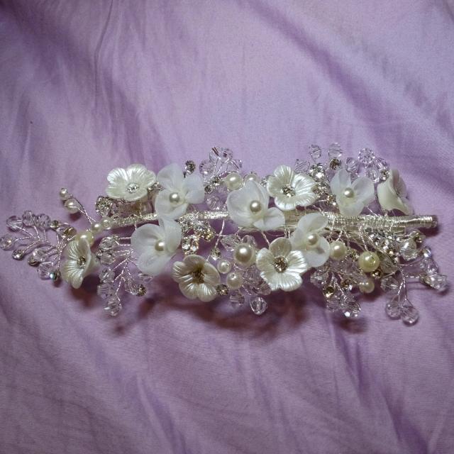 ✨白鑽✨新秘花朵頭飾