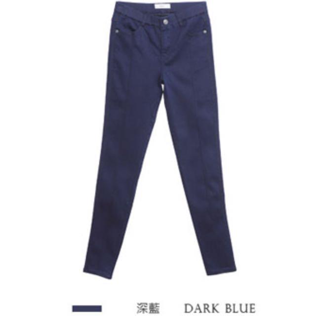 轉賣全新 顯瘦深藍色彈性窄管褲