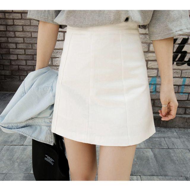 韓版彈力純色修身短裙 窄裙