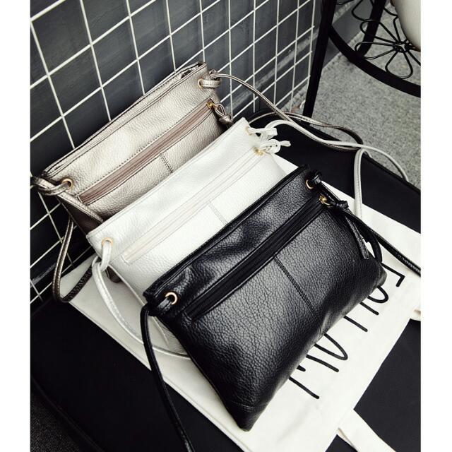 韓版斜背小包 側背包 黑 手機包 手拿包 機車包