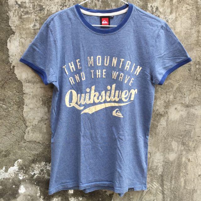 二手 QUIKSILVER S號 灰藍 短T