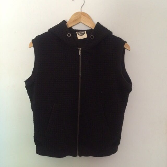 All about eve vest with hoodie