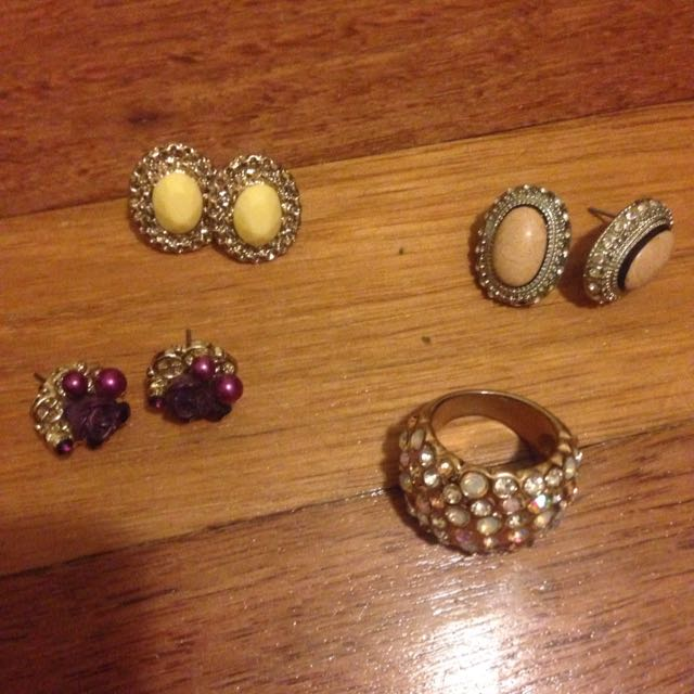 Assorted Earrings And Ring