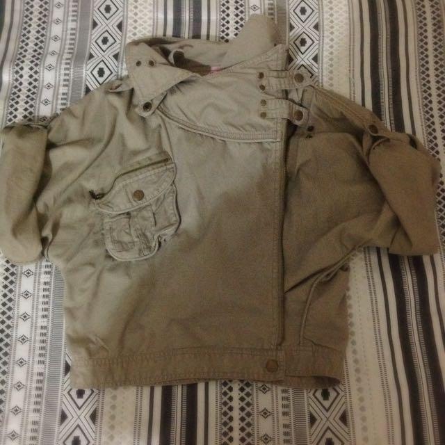 Asymmetrical Zip Up Jacket